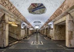 Underground public art gallery Moscow metro